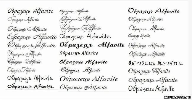 Набор из кириллических шрифтов
